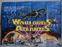 Warlords of Atlantis (1978) Doug McClure Film Poster - UK Quad